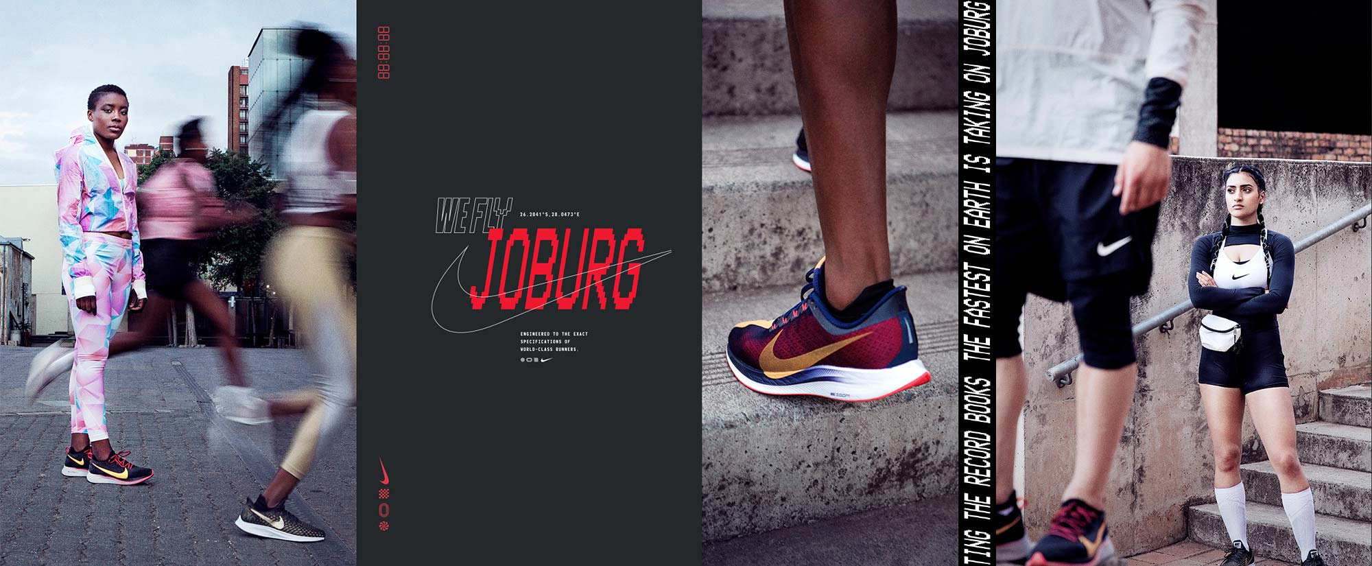 Nike WeFly design with images of models and athletes