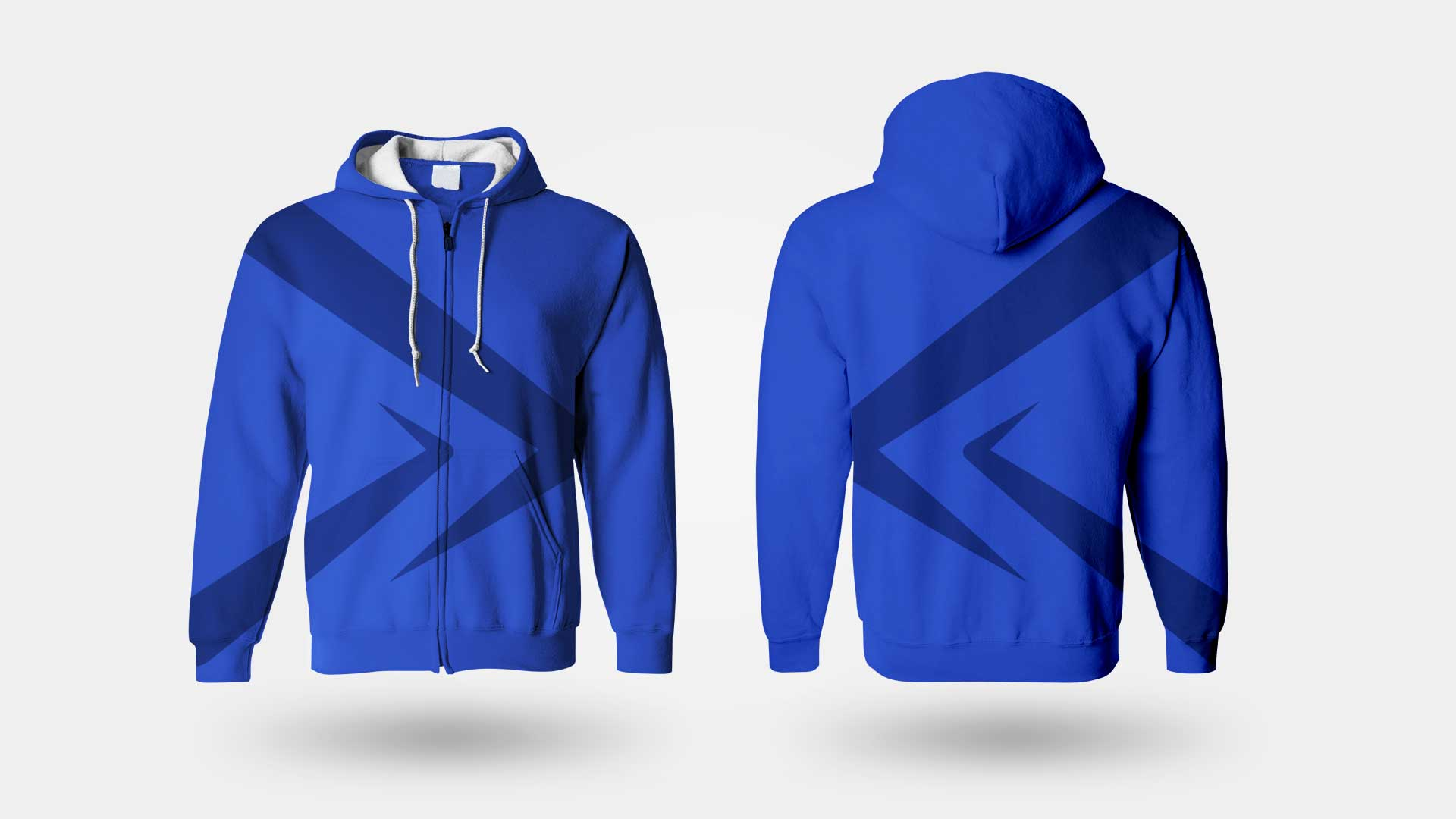Pro Action hoodie, sweater and sweatshirt back & front logo mock-up