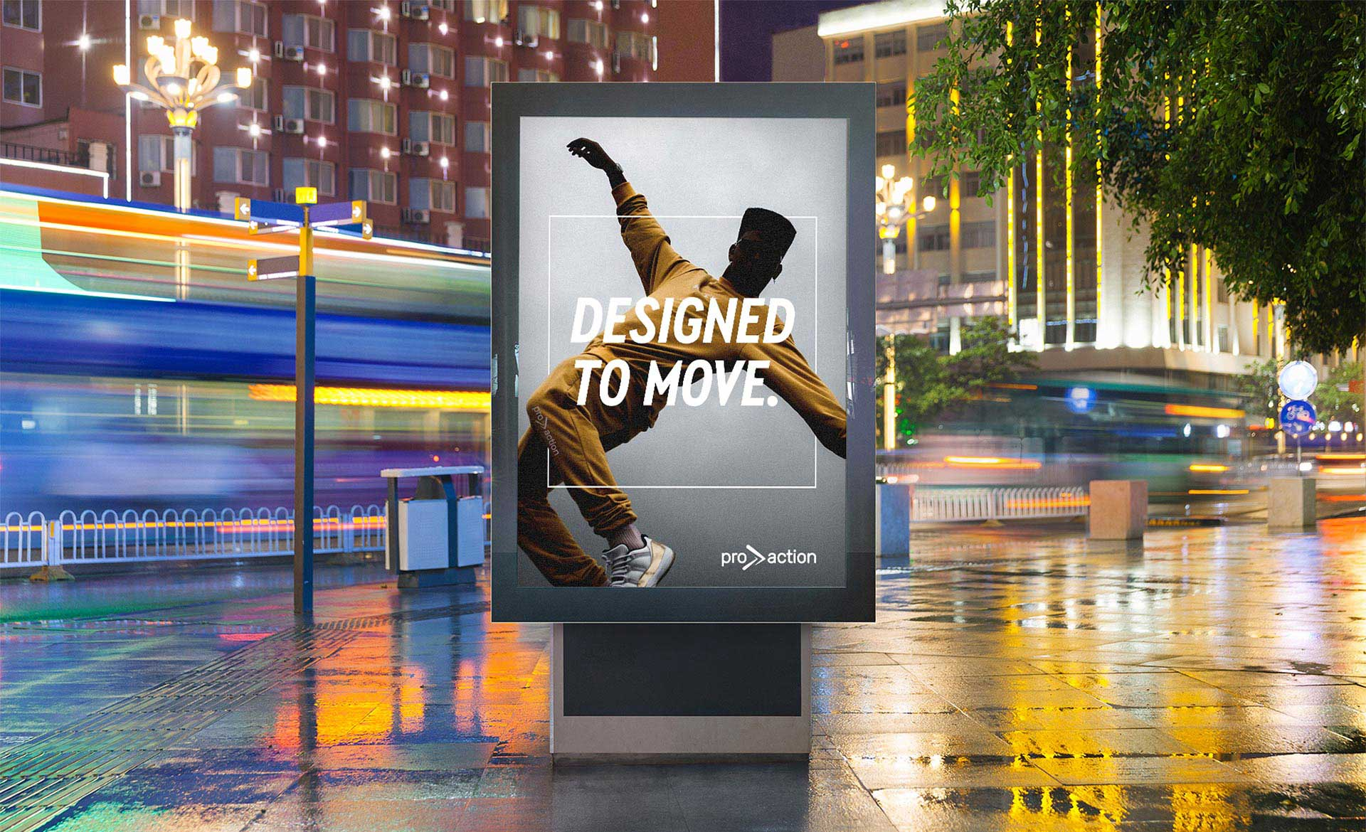 Pro Action designed to move outdoor billboard advertising ad