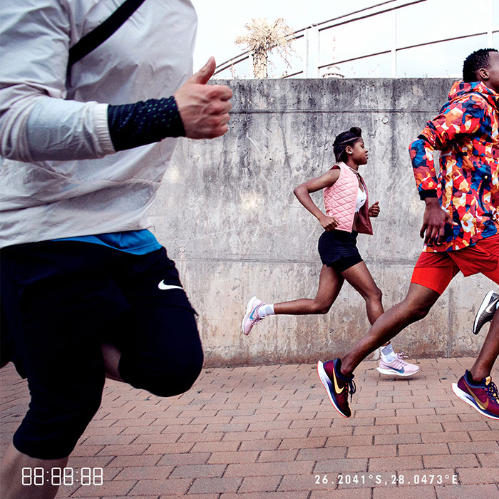 Nike athletes running